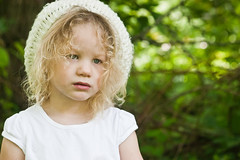If our American way of life fails the child, it fails us all.  ~Pearl S. Buck (Im a real big fan of yours) Tags: trees brown white green love girl beautiful face hat hair eyes child sister gorgeous cara lips blond lovely