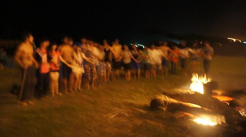 比西里岸‧露營趣的營火晚會。照片提供:林念慈。