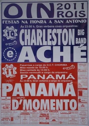 Rois 2011 - Festas de San Antonio en Oín - cartel