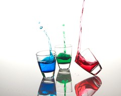 RBG Splash (ICT_photo) Tags: blue red green water glass shot drop splash ictphoto ianthomasguelphontario