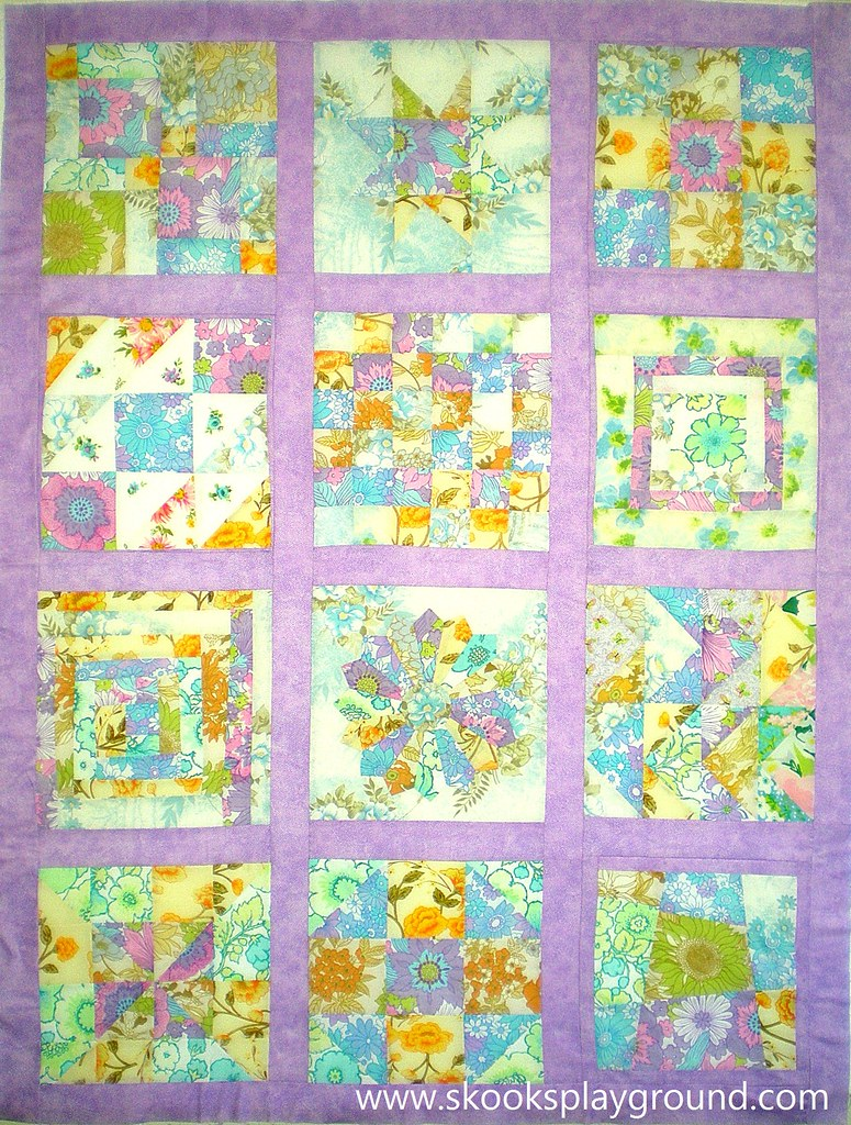 Vintage Sheet Freedom Bee Quilt Top