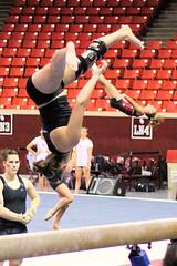 TWU Gymnastics [Beam] Sara Grunert (Erin Costa) Tags: oklahoma turn dance university texas tx swing norman beam gymnast gymnastics ou balance ok leap tumble meet twu womans compete dismount