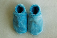 Newborn Sky Blue OBV Booties