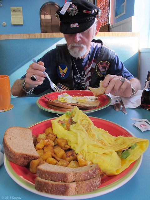 Western Hemisphere omelet with Dad