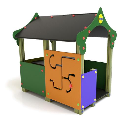 juego infantil cabaa casita china de polietileno y madera