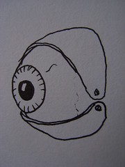 Eyeball - eyelid concept drawing