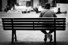 still waiting... (fluffyLuke) Tags: street italien blackandwhite bw white black color colors canon italia sw imperia ruhe