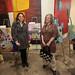 Artist Lindsey Nobel and Shana Nys Dambrot of LA Canvas Magazine with Lindsey's \