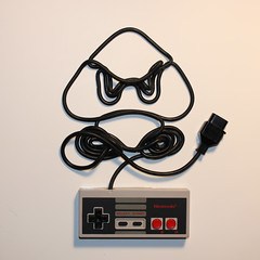 Ghost in the Machine - Goomba (iri5) Tags: iris art cord wire nintendo retro simmons erika ghostinthemachine gooba iri5