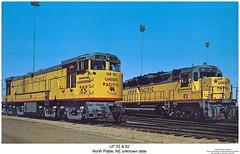 UP 53 & 82 (Robert W. Thomson) Tags: railroad up train nebraska diesel railway trains unionpacific locomotive uboat trainengine dd ge northplatte emd dd35 u50 dd35a u50d eightaxle