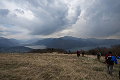 Hill and Lake (Ragg Burns Imaging) Tags: travel italy lake mountains alps trek walking cai mountainlake clubalpinoitaliano