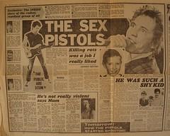 Sex Pistols - The Sun newspaper article, January 1978 (Paul-M-Wright) Tags: rock newspaper punk headline article 70s punkrock 1978 1970s seventies sexpistols newwave thesun sidvicious johnlydon stevejones johnnyrotten paulcook 70spunk 16january judyvermoral fredvermoral