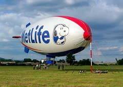MetLife Blimp (Hank Rogers) Tags: pictures photography one photo airport photos pennsylvania aircraft aviation air crowd cartoon picture peanuts ground pa photographs crew photograph snoopy mooring blimp static airship mast wyoming lighter docked metlife landed lightship moored fortyfort wbw derigible snoopyone snoopy1 lightshipgroup n560vl fortyfortairport wyomingvalleyairport columbiaaviation wyomingvalleyaviation valleyaviation