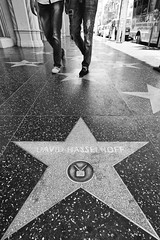 Step in Sequence (boingyman.) Tags: ca street blackandwhite bw canon stars streetphotography step hollywood davidhasselhoff hoff 1022 t2i