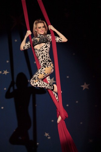 Aerialist Mona Lisa in Circus of the Orient's Shanghai Express