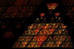 SierpinskusIlluminantus (VinnieIannone) Tags: abstract art triangle artist pyramid vincent manipulation math zelda mathematics fractal inversion legend vinnie illuminati triforce sierpinski iannone