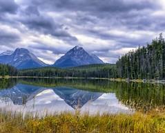 Autumn Reflections (Phil's Pixels) Tags: autumn lake canada reflections pond jasper explore alberta leechlake mtfryatt jasperpark whirlpoolpeak
