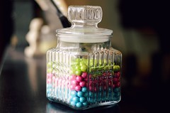 color bomb (LeanneRichelle) Tags: color cute colorful candy chocolates jar candyjar colorballs candyballthings