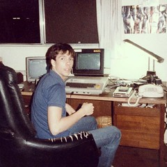 Surprised by Mom with my Atari 800 and dual monitor setup circa 1982 or 83 #tbt