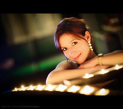 Mathilde (Sylvain_Latouche) Tags: light shadow portrait colors candle bokeh room mathilde nikond800 sylvainlatouche