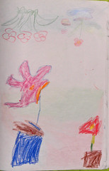 Drawings by my son at 4 yo and by his mother (cod_gabriel) Tags: flowers drawing son dessin flowerpot dibujo filho fiu tegning desenho disegno hijo fils flowerpots zeichnung tekening sohn flori figlio  teckning rysunek rajz piirustus   desen menggambar ghivece