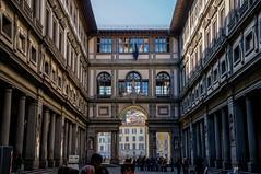 Piazzale degli Uffizi (KarinaAnel) Tags: italy art architecture design florence gallery geometry firenze uffizi piazzale degli