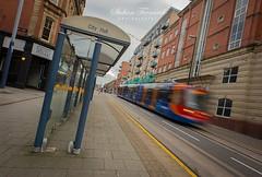 Sheffield Super Tram 1.0 (L a t i t u d e) Tags: motion sheffield tram slowshutter nikond800 nikon20mmf28d
