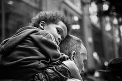*** (stefanopad82) Tags: london uk kid child centrallondon portrait piggyback ride sleepy black white