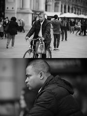 [La Mia Citt][Pedala] (Urca) Tags: milano italia 2016 bicicletta pedalare ciclista ritrattostradale portrait dittico bike bicycle nikondigitale mir biancoenero blackandwhite bn bw nn 89151
