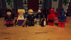 Series 16 Updates (LordAllo) Tags: lego collectible minifigures series 16 dc superboy harley quinn nemesis alfred pennyworth penguin satan the devil atom