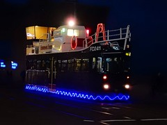 Trawler... seemingly the wrong transformer was fitted! (deltrems) Tags: blackpool transport tram public service vehicle feature illuminated trawler lancashire fylde coast
