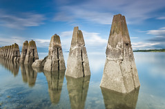 Cramond Defences - Explored & FP (Grant_R) Tags: longexposure summer scotland edinburgh defences causeway firthofforth cramond cramondisland heliopan nd30 grantr 10stopper