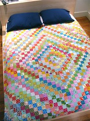 scrappy trip around the world! ({ philistine made }) Tags: colorful quilting patchwork scrappy triparoundtheworld