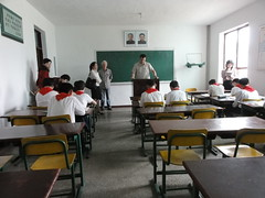 This is me giving an english lesson in a North Korean middle school (mikestuartwood) Tags: asian asia north korea communist communism korean socialist socialism northkorea dprk dpr northkorean dprkorea dprkorean