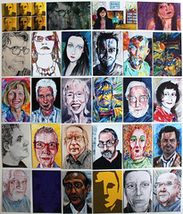 All JKPP portrait business cards (Cecca W) Tags: portrait people art digital pen ink watercolor painting faces drawing mixedmedia moo businesscards watercolour artcards jkpp