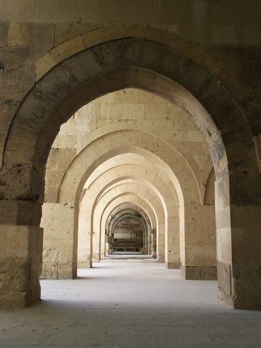 半開放的長廊