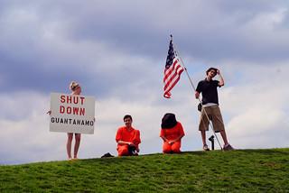 Anti-Torture Vigil - Week 54: Des Moines Sculpture Garden Hilltop
