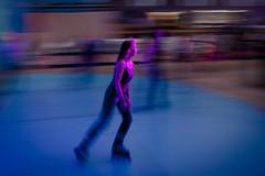 Onwheelz (52) - 11Jun11, Paris (France) (]) Tags: pink blue party portrait woman blur paris girl rose speed disco movement blurry femme bleu roller panning flou rollerskate mouvement liner vitesse onwheelz