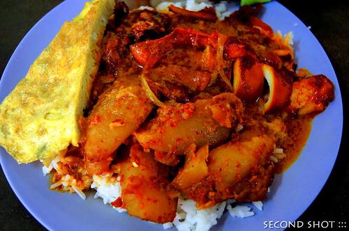Nasi + Telur + Sotong + Kentang
