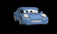 Sally Carrera - Disney / Pixar 'Cars' Movie Character (lego911) Tags: auto cars car movie model lego render 911 disney sally german porsche pixar cad carrera 996 moc ldd miniland cars2 foitsop lego911