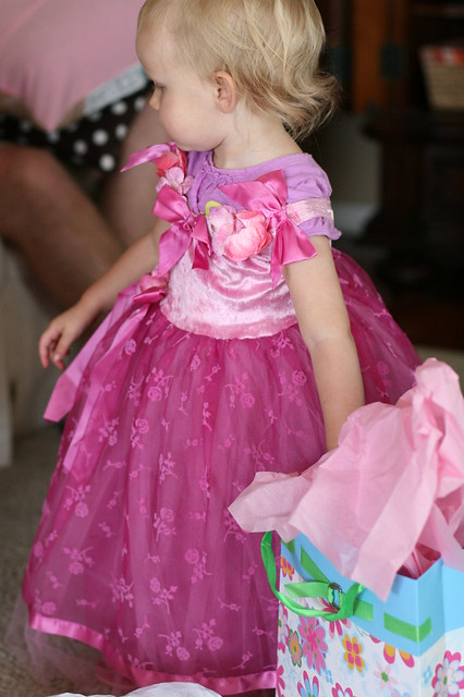 in her newest princess dress. all day.