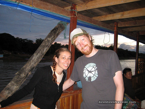 Leslie and Jake_Laos Slow Boat