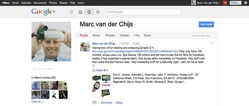 My Google+ profile