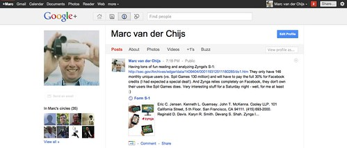 My Google+ profile