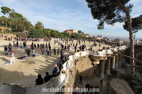 park guell visitors