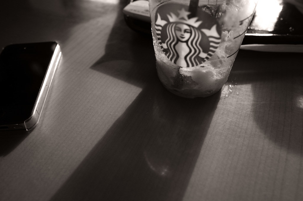 at the starbucks