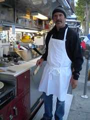Crepe maker (checkered demon) Tags: crepemaker streetdining lacmaart