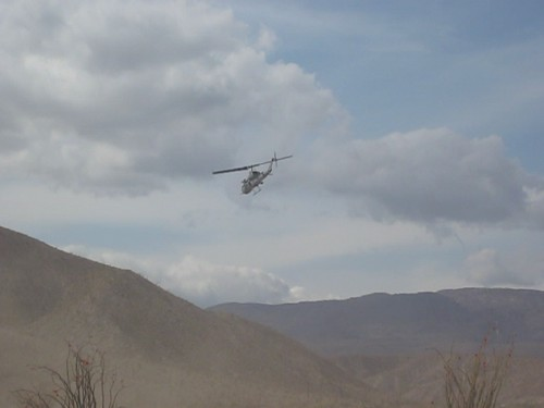 Helicopter Landing Practice near Agua Caliente Park