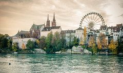Basler Mnster und Riesenrad (photo-maker) Tags: city church river schweiz switzerland suisse swiss kirche basel bigwheel fluss rhein riesenrad mnster herbstmesse 2011 baselstadt digitalcameraclub flus 20111028163732