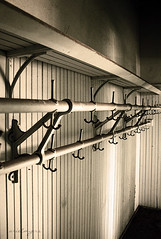 school's over (new and improved with commenting enabled, sorry) (ariel is . . .) Tags: old school abandoned metal virginia iron classroom decay empty va coatrack hooks beadboard coatcloset schoolbuilding yepimquiteliterallyinthecloset